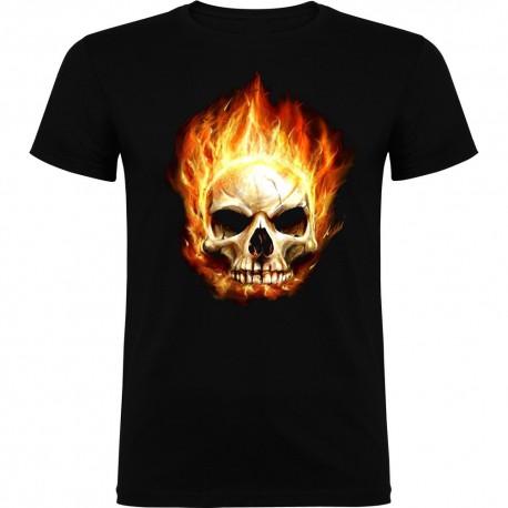 Camiseta de niño Calavera fuego