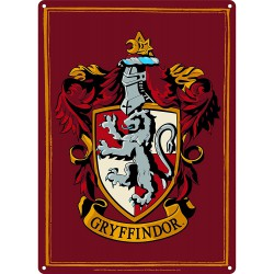 Harry Potter Placa de Chapa Gryffindor