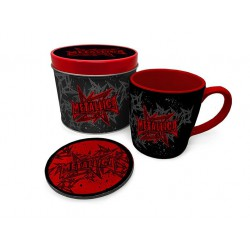 Metallica Taza con Posavasos Stars And Wings