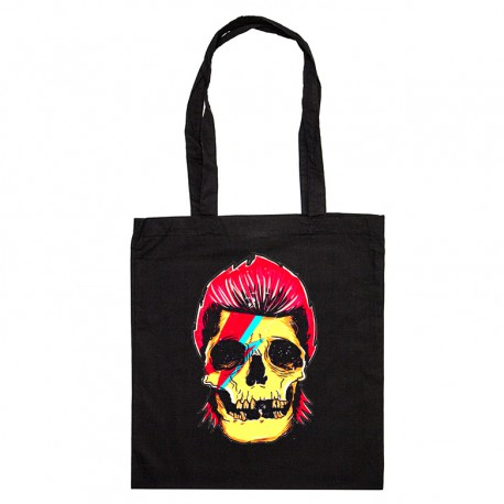 Tote Bag David Bowie Skull