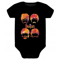 Body para bebé Baby beatles caras