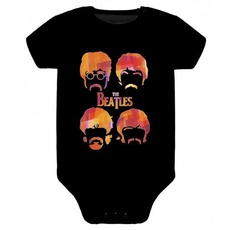 Body para bebé Baby beatles caras