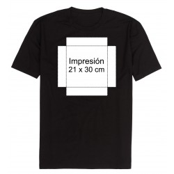 Camiseta personalizada tamaño 21x30 cm