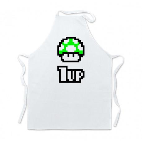Delantal cocina Mario 1UP