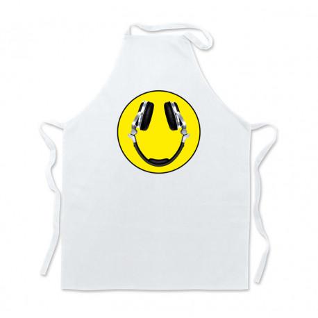Delantal cocina Blanco Acid