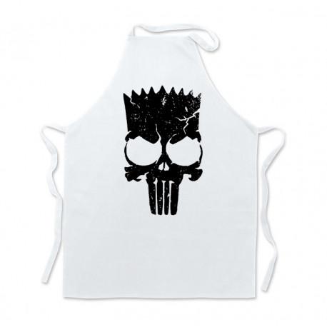 Delantal cocina Blanco Bart Skull