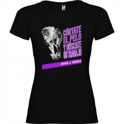Camiseta Córtate el pelo y búscate un trabajo Rafa J. Vegas Chica