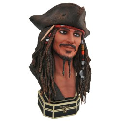 Piratas del Caribe Legends in 3D Busto 1/2 Jack Sparrow