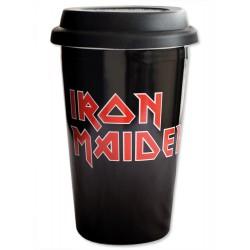 Iron Maiden Taza de Viaje Logo