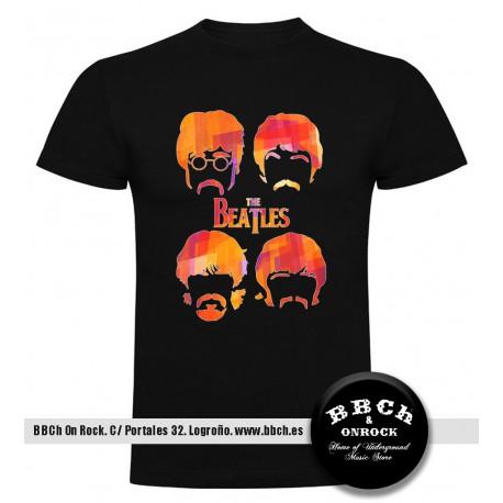 Camiseta Beatles Caras