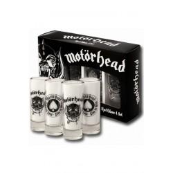 Motörhead Pack de 4 Vasos de Chupitos