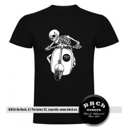 Camiseta Vespa Skull