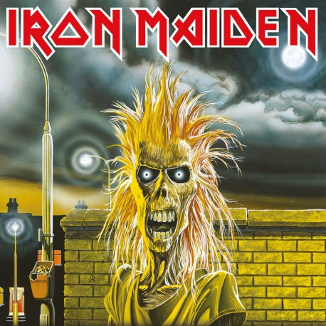 Iron Maiden Póster de tela Enmarcado First Album