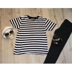 Camiseta Rayas Blanca / Negra