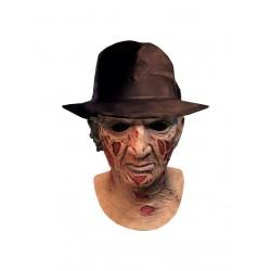 Máscara de látex Deluxe con sombrero Freddy Krueger