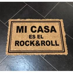 Felpudo Mi casa es el Rock&Roll